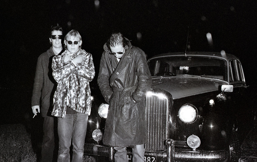 Admin thumb 7  the stones play rock stars with a bentley belonging to the  father of friend john devereux 1982 permission john devereux