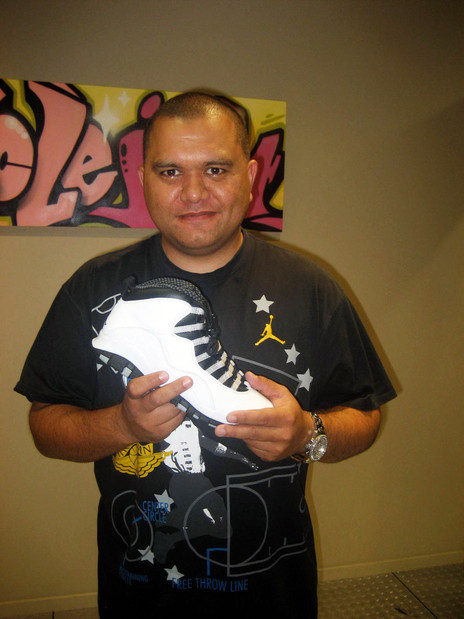 Hero thumb sir vere shows off an item from his extensive sneaker collection   simon grigg collection