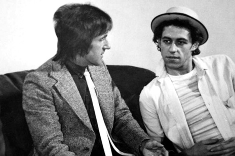 Dylan Taite with Bob Geldof in the mid-1980s