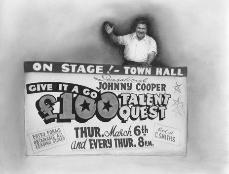 Hero thumb entrepreneur johnny cooper entices contestants and budding artist to his talent quest  1958  . ref  pacoll 10069 2 52